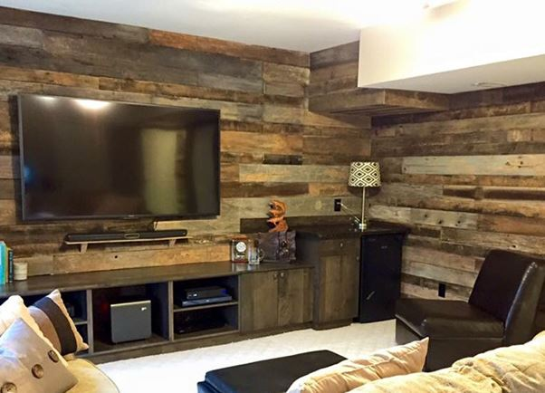 hard wood flooring on walls style home makeovers
